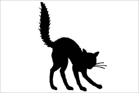 480x320 Black Cat Clipart Spooky Black