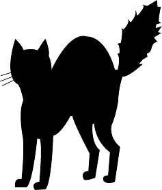 237x278 Scary Black Cat Silhouette Clip Art