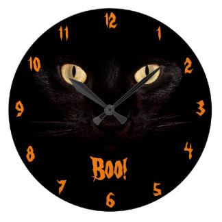 324x324 Scary Black Cats Wall Clocks Zazzle