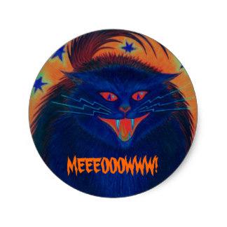 324x324 Scary Cat Stickers Zazzle