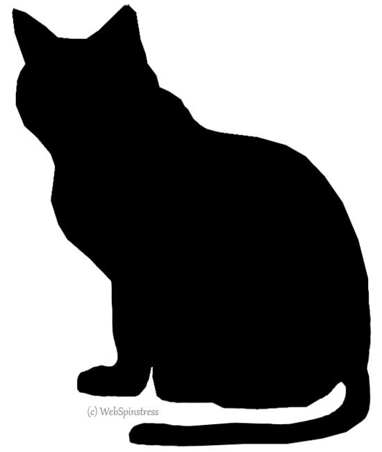 550x650 Silhouettes For Halloween Cat Cat Silhouette