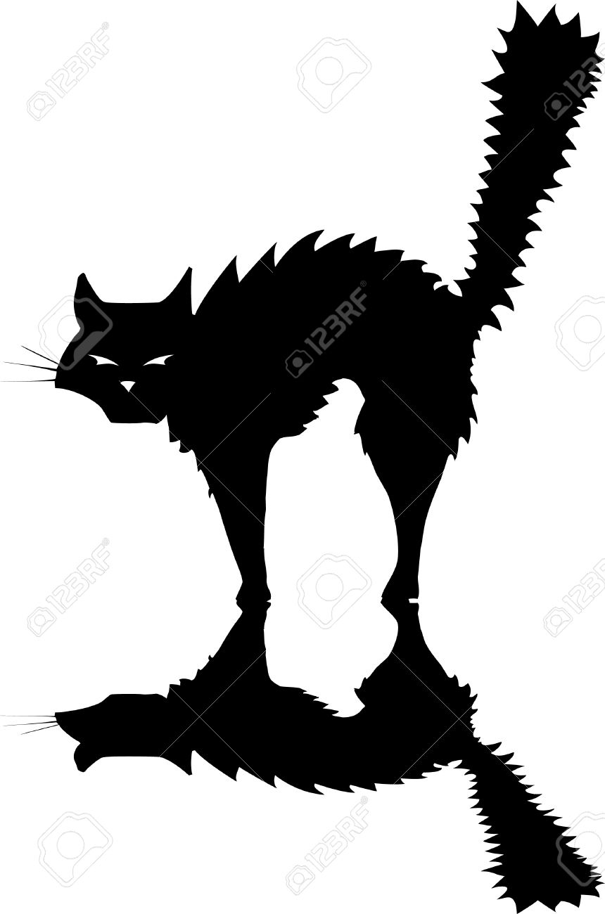 860x1300 Black Cat Clipart Creepy
