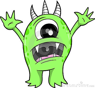 400x370 Monster Clipart Spooky