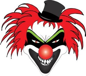 300x263 Scary Clown Clipart Image Clipart Panda