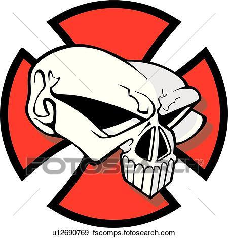 450x470 Clip Art Of Skull, Skulls, Death, Doom, Creepy, Scary, Extreme