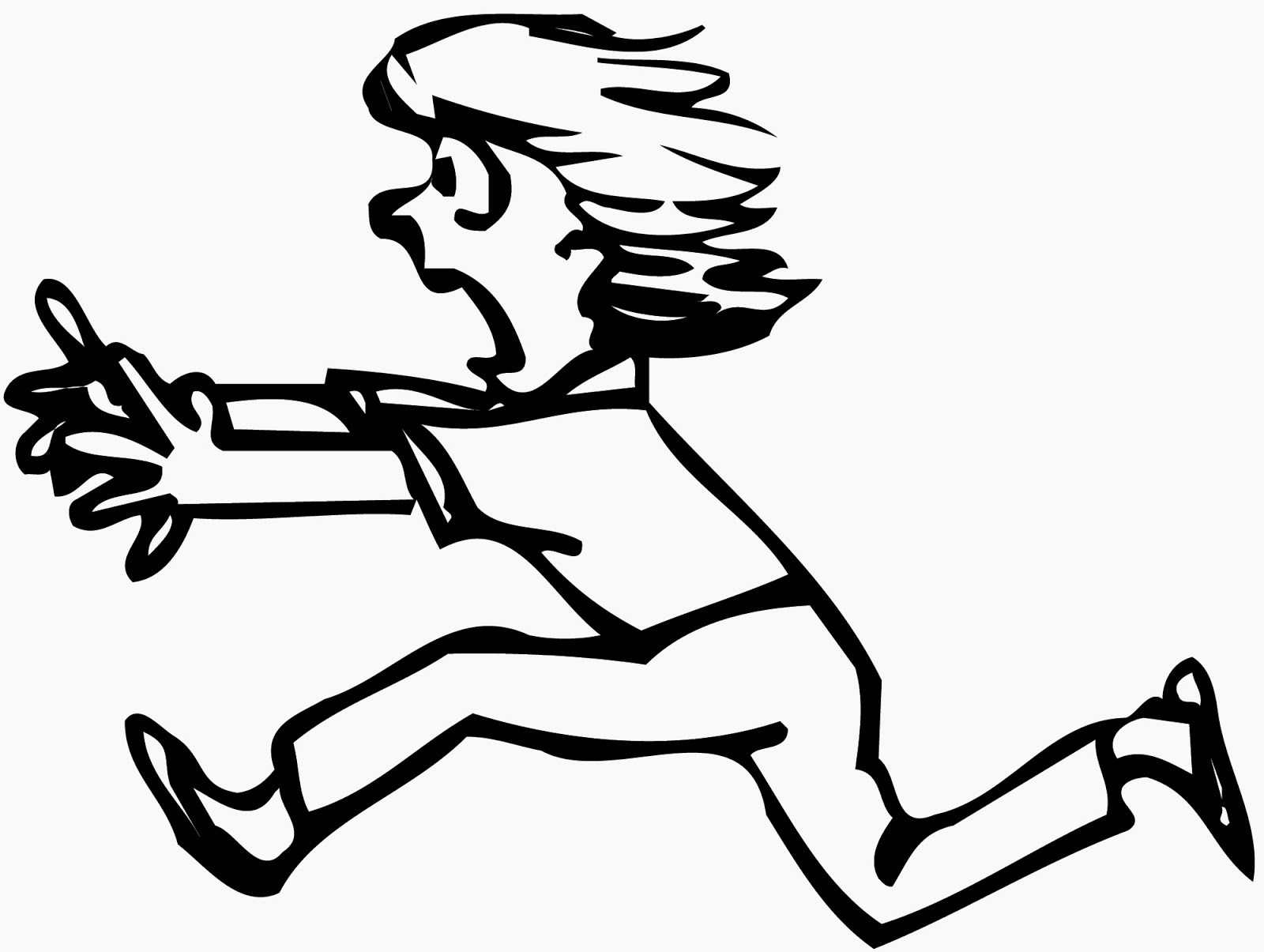 1600x1205 Scary Running Girl Clipart