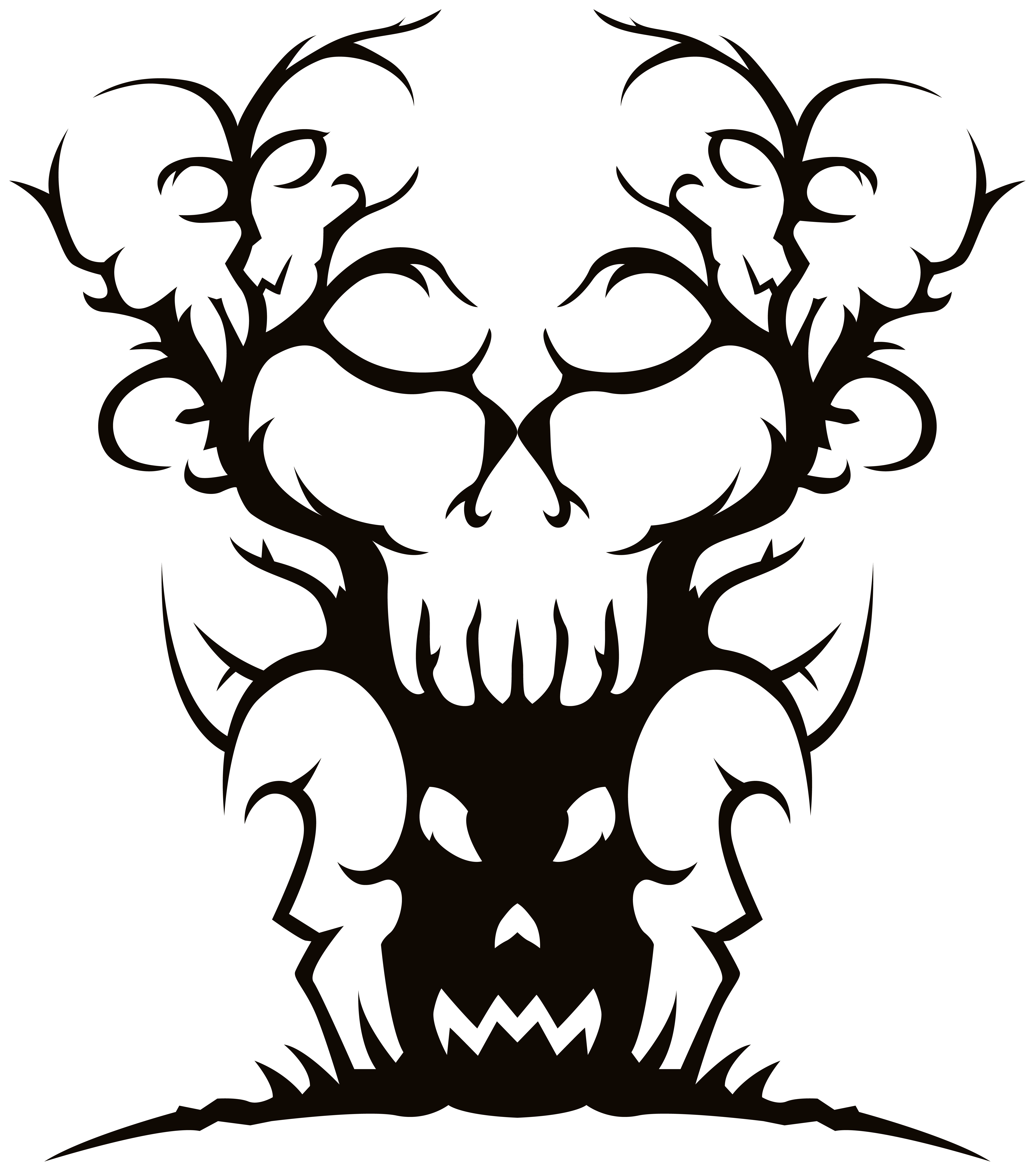 5359x6065 Scary Clipart Transparent