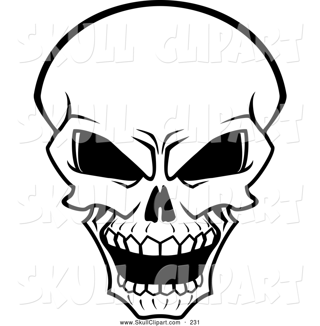 1024x1044 Vector Clip Art Of A Scary Glaring Bleached Skull By Vector