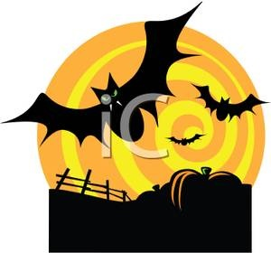 Scary Halloween Pumpkin Clipart