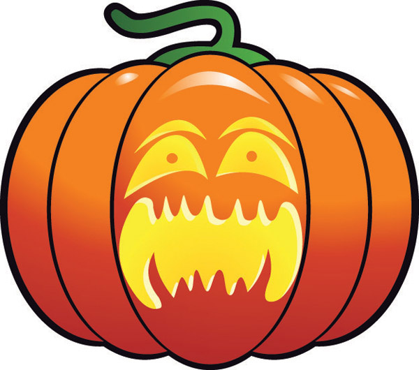 600x530 Scary Halloween Pumpkin Faces Free Vector Download (2,628 Free