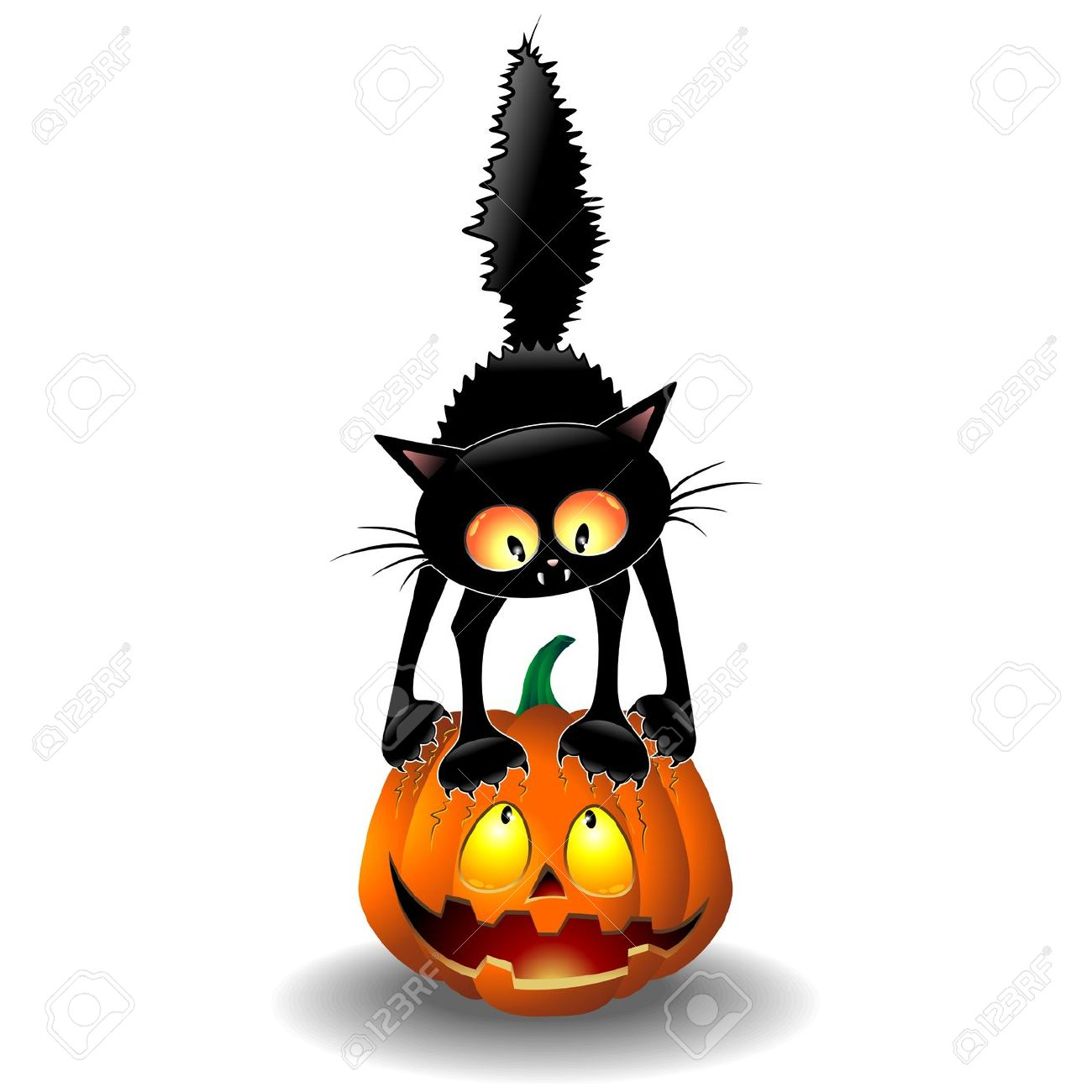 1300x1300 Cat Pumpkin Clipart