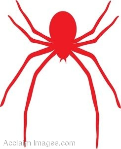 245x300 Clip Art Picture Of A Red Spider
