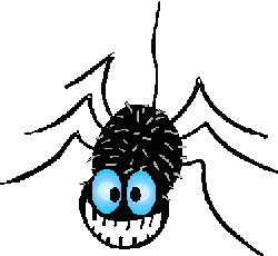 250x230 Creepy Spiders Webs Clipart