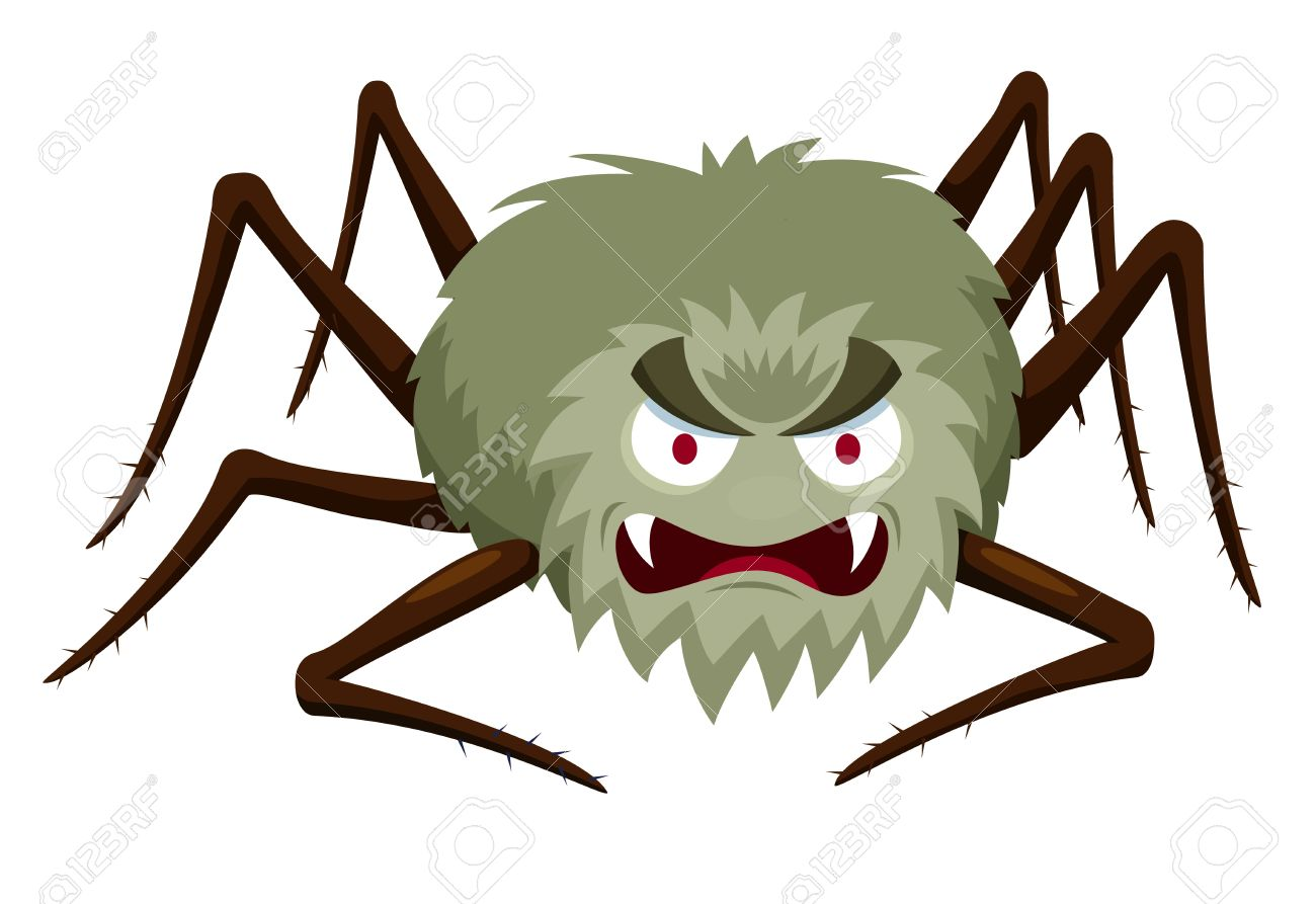 1300x893 Illustration Of Cartoon Spider On White Royalty Free Cliparts