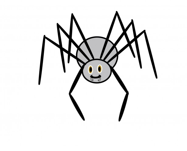 615x497 Scary Spider Clipart