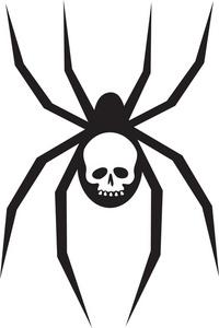 200x300 Black Widow Spider Clipart Image