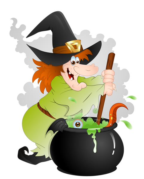 482x600 Halloween Witch With Cauldron Png Clipart Halloween Printables
