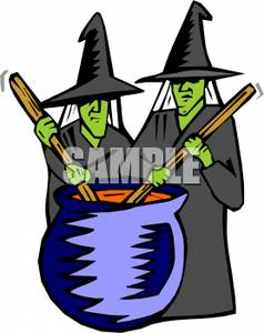 238x300 Scary Witches Cauldron Clipart