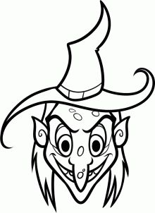 220x302 Scary Witch Face Coloring Page Leisa's New Life