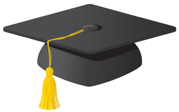 600x377 Graduation Hats Clip Art