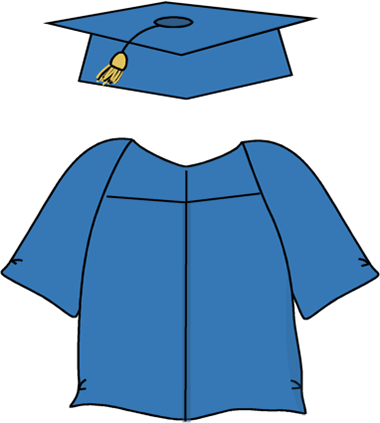 380x423 Graduation Cap And Gown Clipart Kid 2