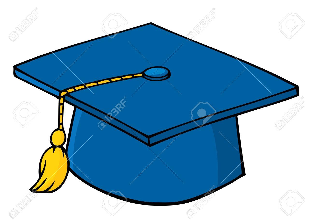 1300x911 Blue Graduation Cap Royalty Free Cliparts, Vectors, And Stock