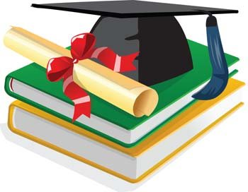 350x272 Book And Scholar Hat, Vector Files