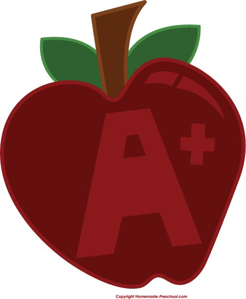School Apple Clipart