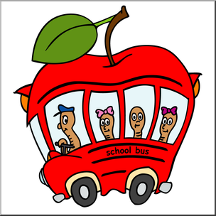 304x304 Clip Art Apple School Bus Color 3 I Abcteach