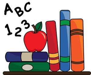 300x250 Free Teacher Apple Clipart Image