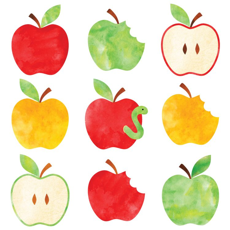 750x750 Watercolor Apple Clip Art