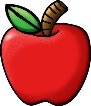 300x350 Apple Clipart School
