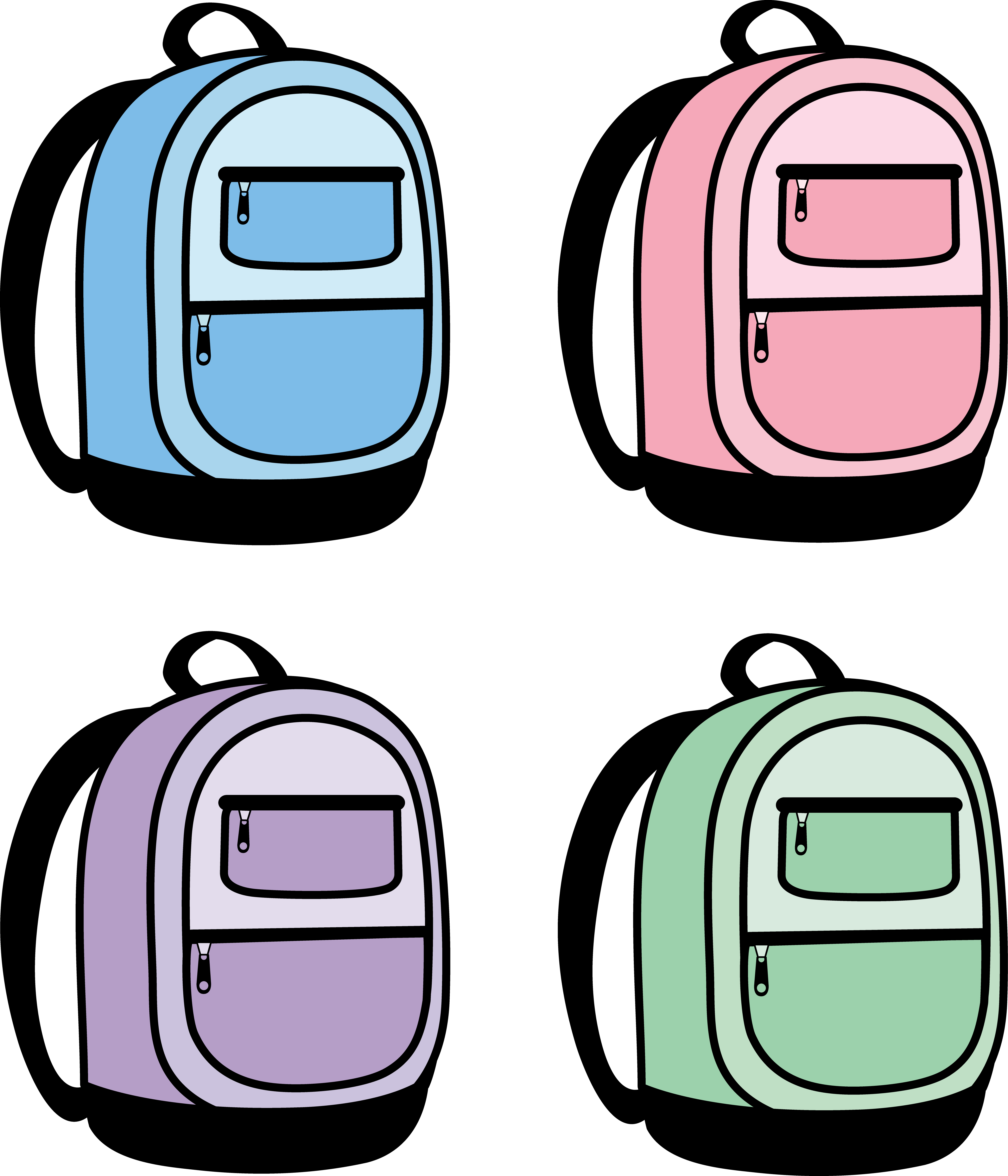 5199x6064 Four Kids School Backpacks