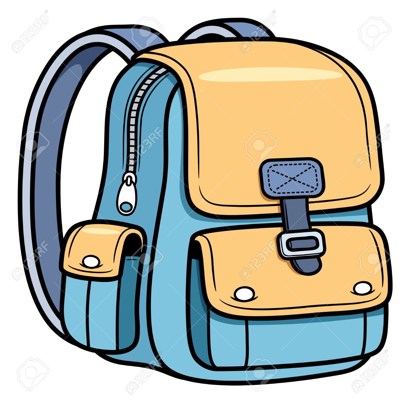 1300x1300 Rear Clipart School Backpack