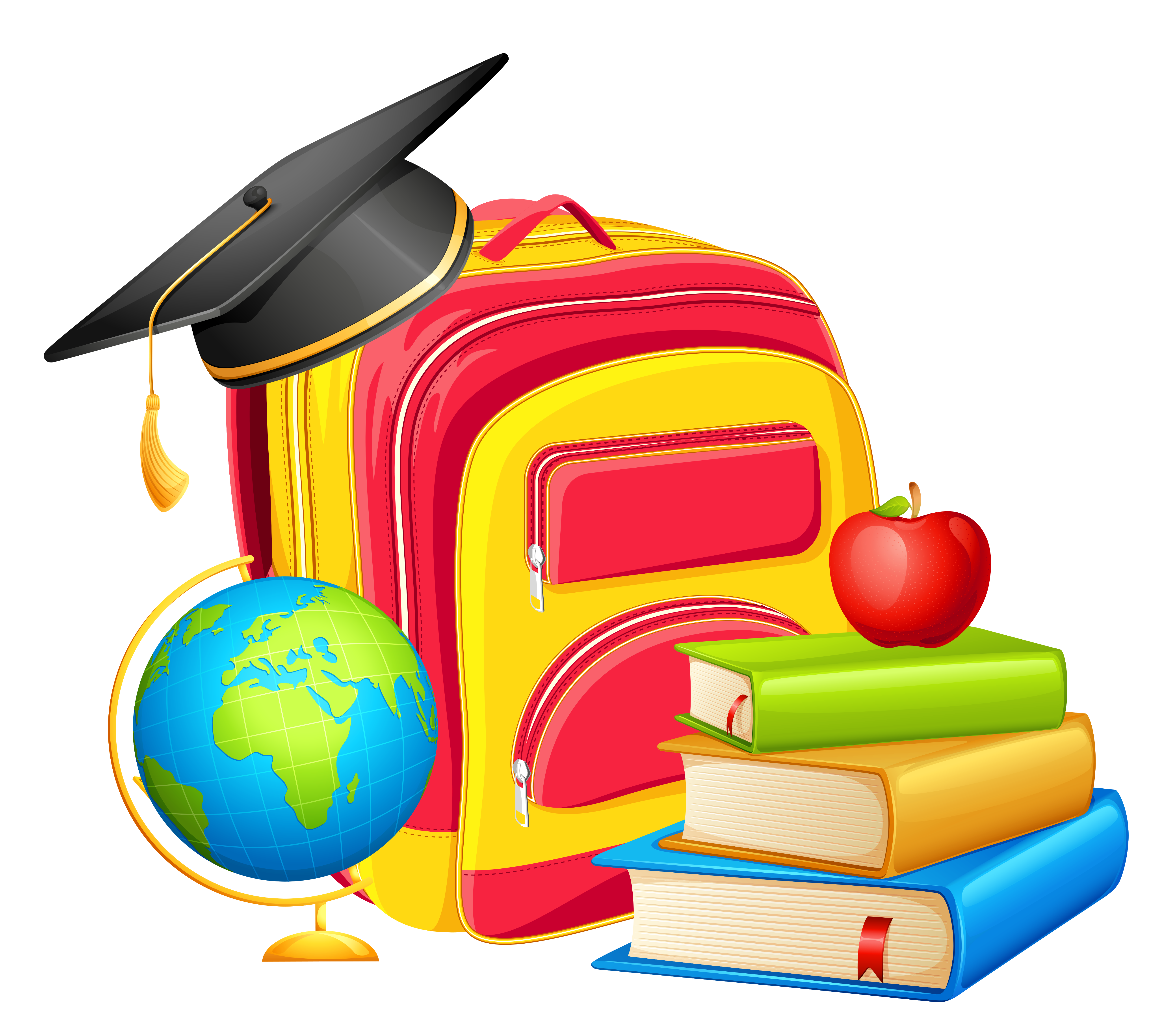 5337x4690 School Backpack And Decorations Png Clipartu200b Gallery
