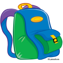 210x210 Backpack Clip Art