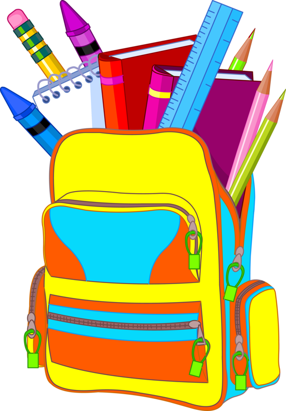 557x800 Bag clipart school supply