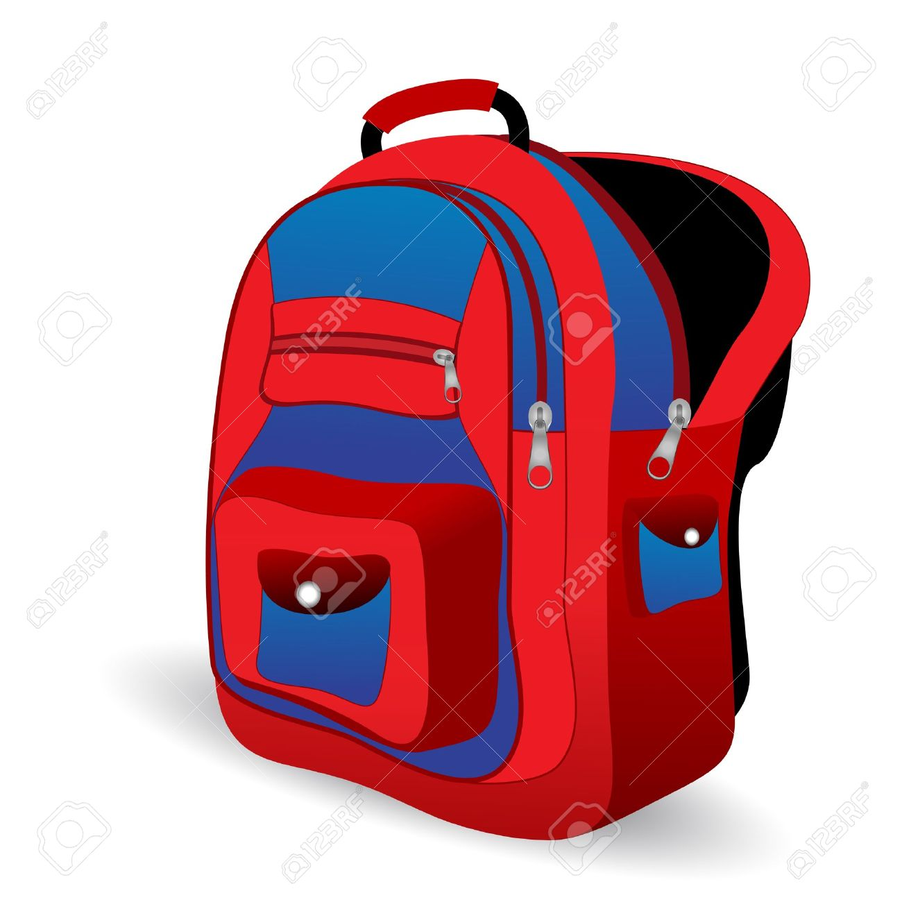 1300x1300 Illustration Of School Bag On White Background Royalty Free