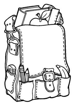 236x332 School Bag Clipart Black And White Letters Format