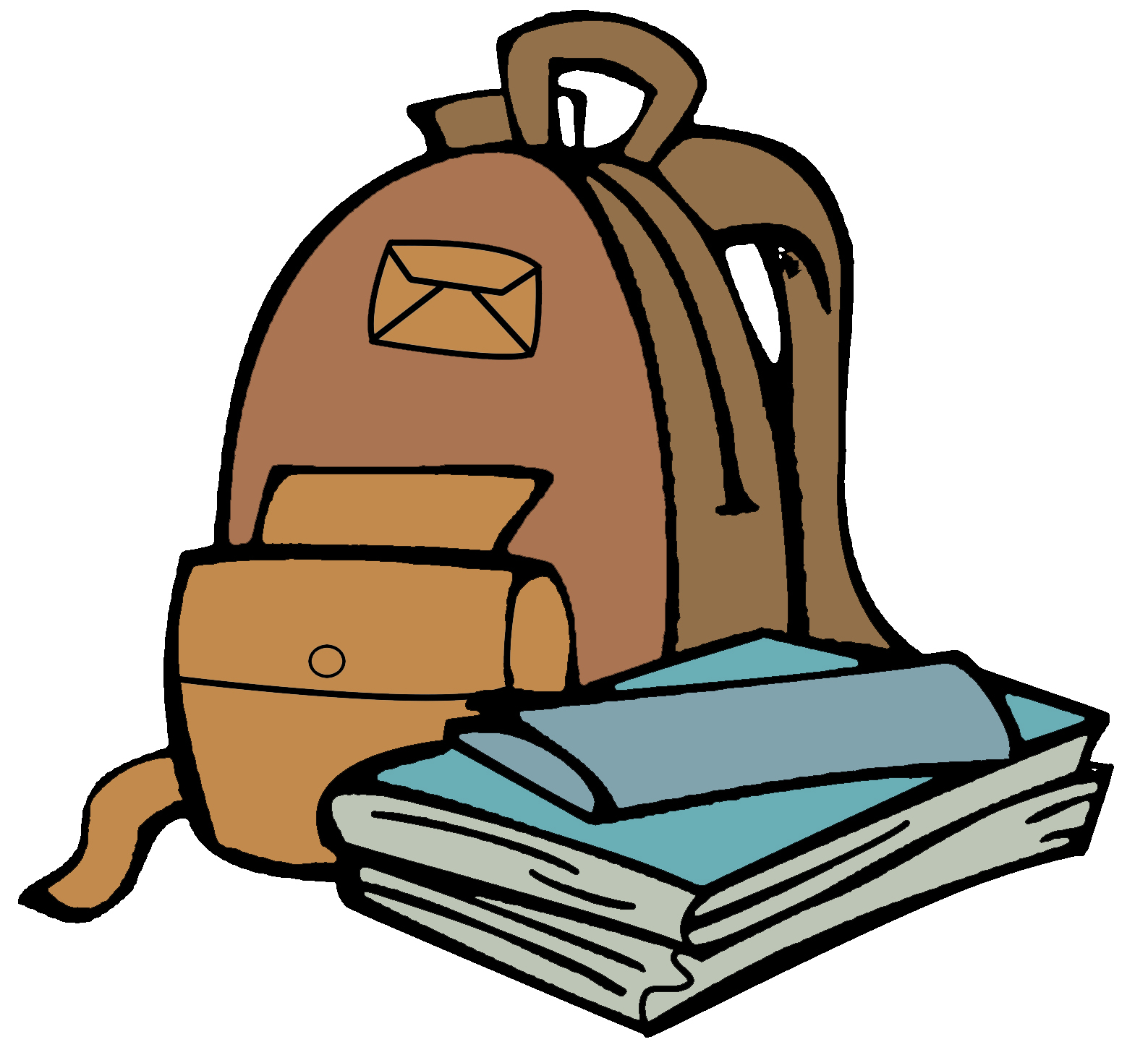 1587x1459 School Clipart Book Bag Clipart Gallery ~ Free Clipart Images