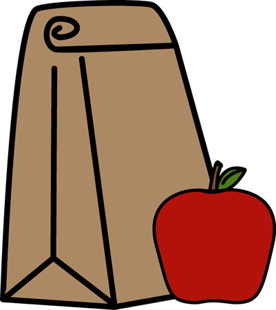 401x450 School Lunch Bag Clip Art