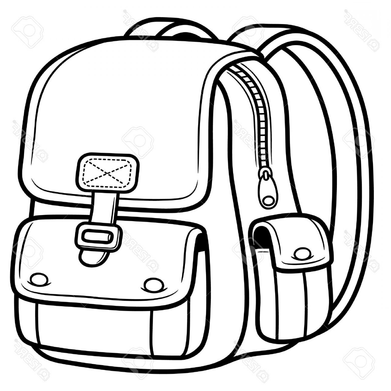 1560x1560 bag clipart black