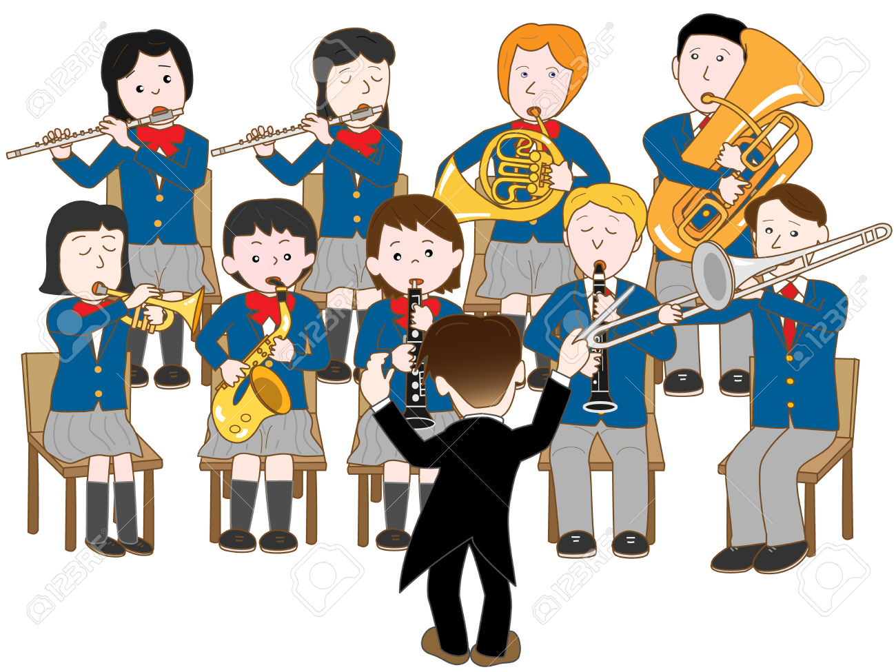 1300x975 Musician Clipart Symphonic Band