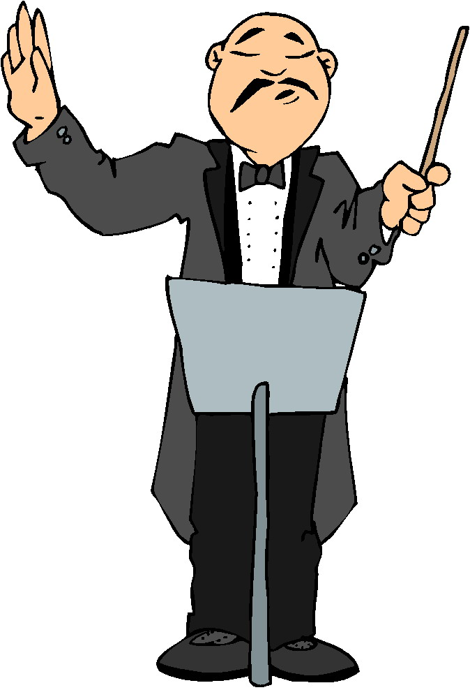 674x988 School Leader Orchestra Clipart