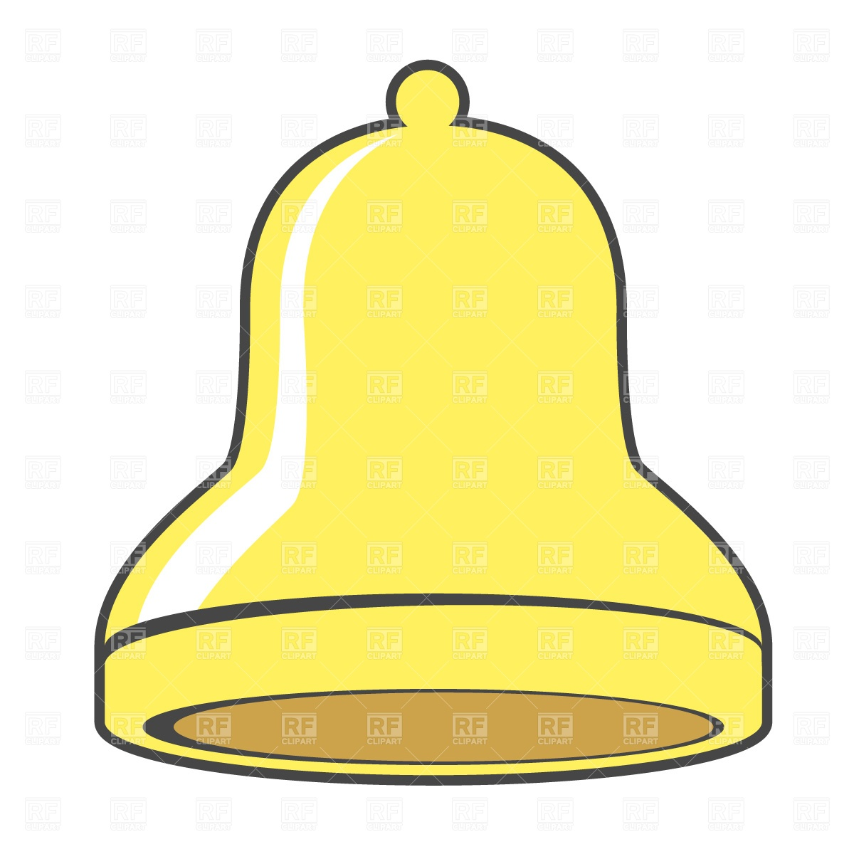 1200x1200 Golden Christmas Bell Free Vector Clip Art Image