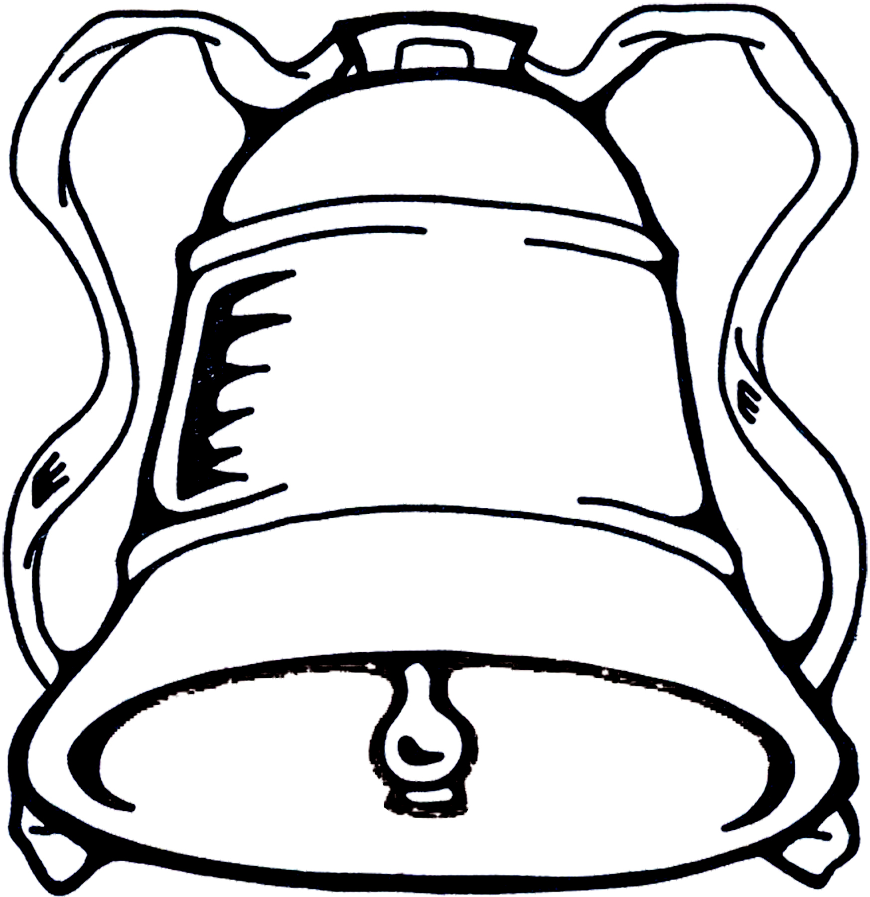 1746x1800 Bell Black And White Clip Art Clipart Photo 2
