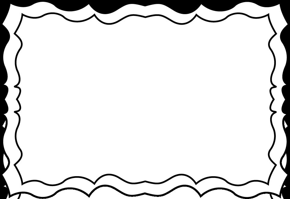 964x662 Black Amp White Clipart Border