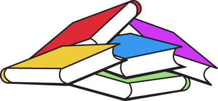 433x200 School Books Clipart