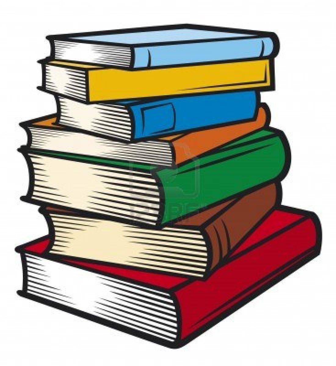 1101x1200 School Books Clipart