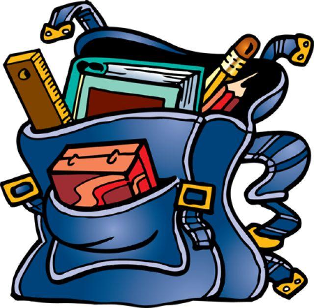 640x627 School bag clipart